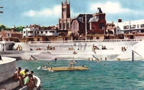 Penzance Lido with Pontoon Wild Swimming History Cornwall