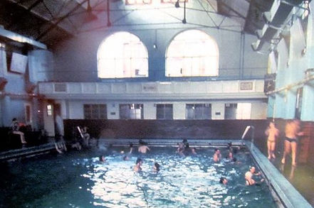 Swimming History Leicester, LOUGHBOROUGH.    Public Bath, Queen's park.