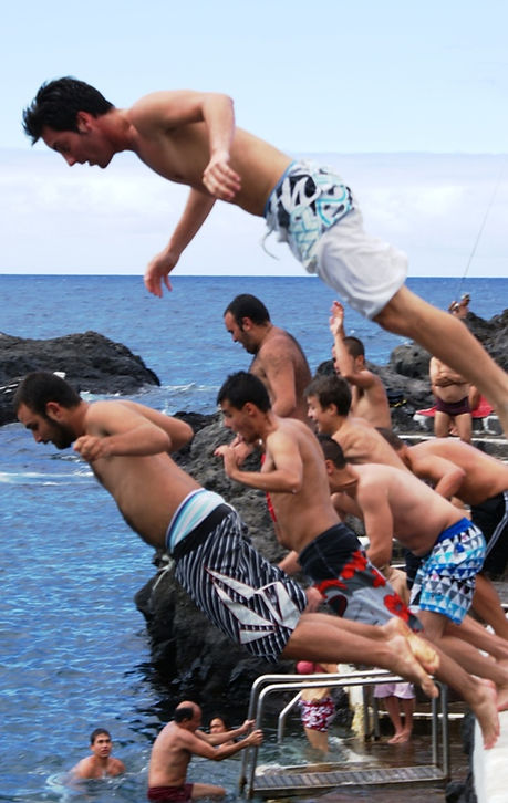 Wild swimming and jumping encouraged at Garachico Tenerife
