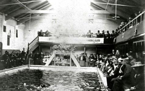 TYLDESLEY.  Public Baths Swimming Histor