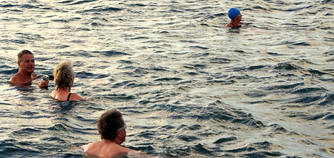 Wild Sea Swimming with the Belles of Penzance, Cornwall.