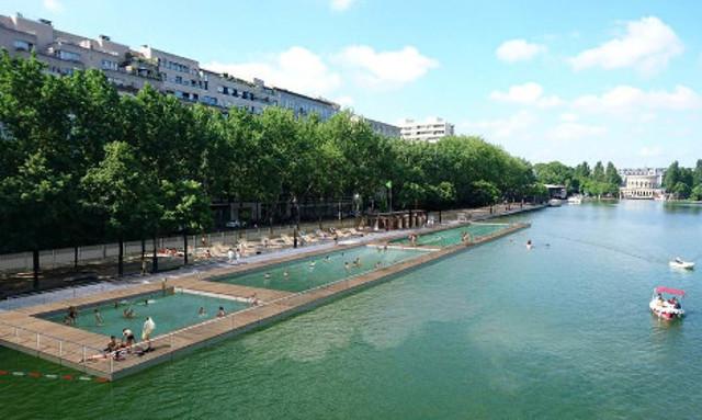 Wild Swimming Paris Canal de l'Ourcq with the Canal Saint-Martin