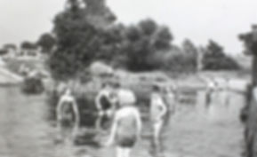 Bathing in River Lea Welwyn Garden Cityy Arches Swimming History