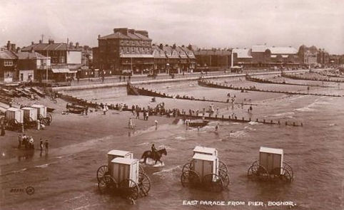 Bathing Machines at Bognor Swimming History
