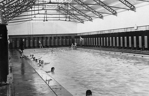 Swimming History London Public Swimming Bath, Hammersmith. London History Public Bath, Lime Grove, Shepherd's Bush