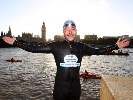 David Walliams Completes His Epic Thames Swim