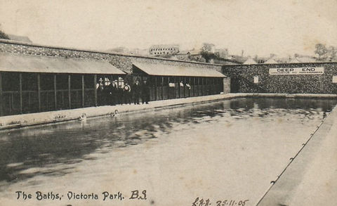 Bristol The Baths, Victoria Park, 1905 Swimming History