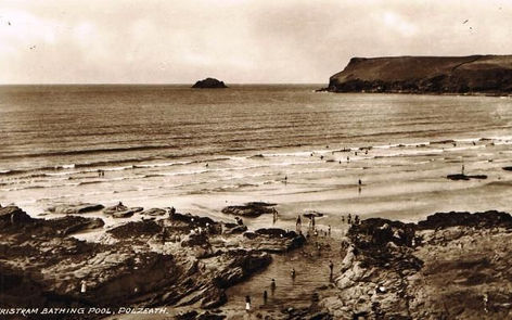 Tristram Bathing Pool Polzeath Wild Swiming History Cornwall