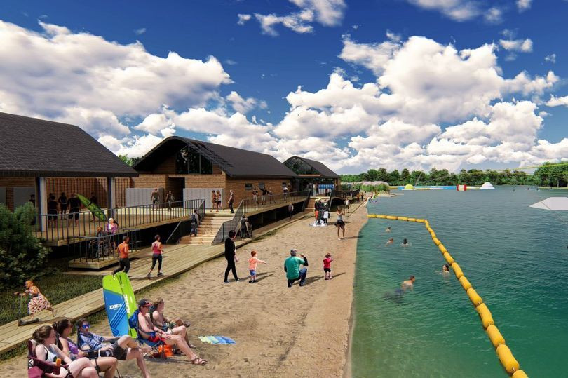 Plans to convert a former gravel pit into swimming area