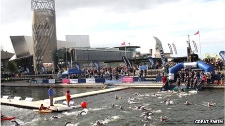 Great Manchester Swim at Salford Quays