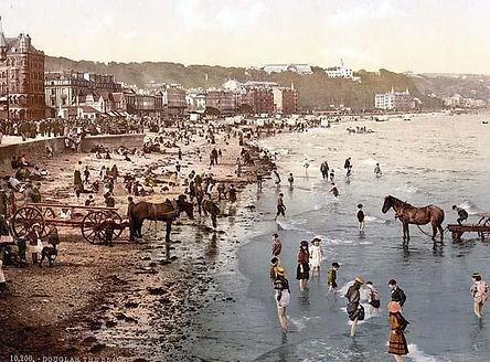 Douglas, the beach, Isle of Man, England between 1890 and 1900