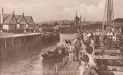 Exmouth Swimming History: Sea, Dock. Club owns two pavilions. Historic wild swimming venue.