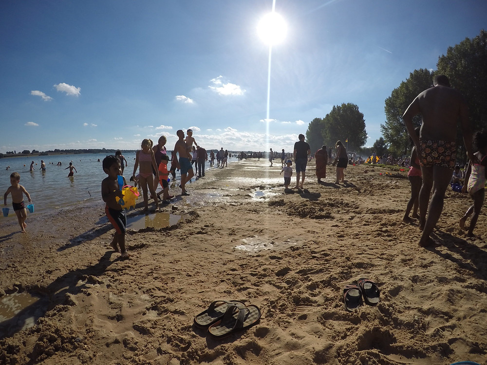 Children Play at Rutland Water Beach