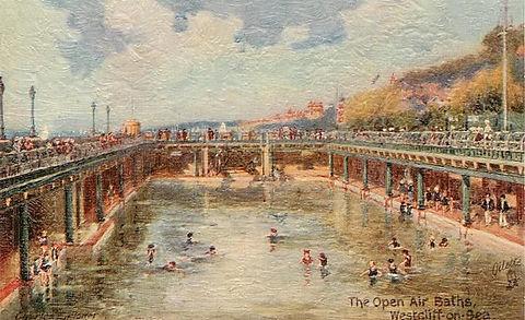 The open air baths, Westcliff by Charles E. Flower 1930