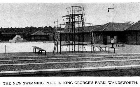 Public Swimming Bath Wandsworth. London Swimming History