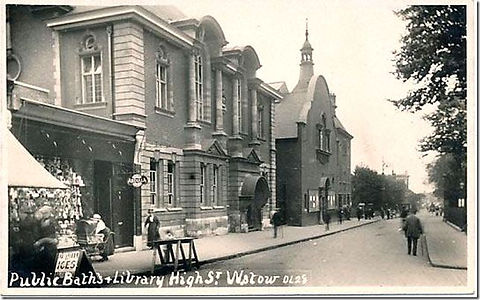WALTHAMSTOW. public swimming baths High Street London Swimming History