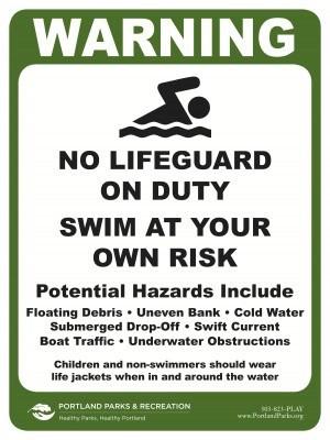 River Swimming Sensible signs and sensible attitudes!