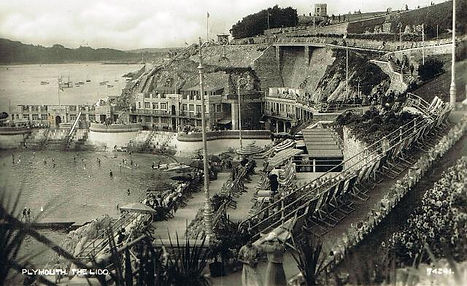 Plymouth Hoe Devon. A Mecca for outdoor swimmers