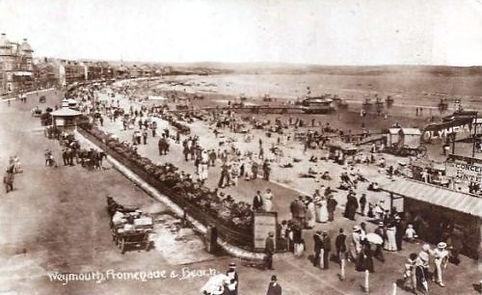 Sea Bathing at Weymouth Beach Swimming History