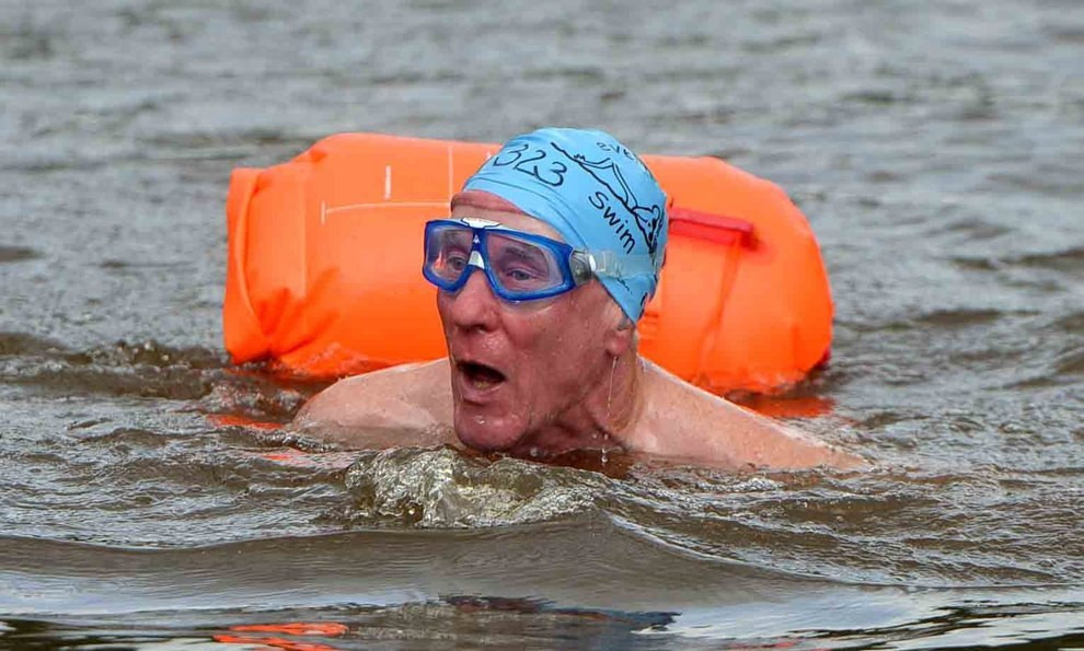 Swimmers plunge in for Shrewsbury's Severn Mile river challenge