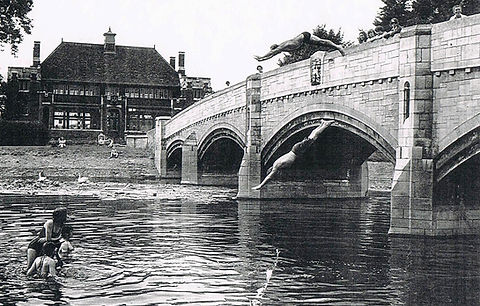 Swimming History Leicester, Abbey Park River, Swimming Diving