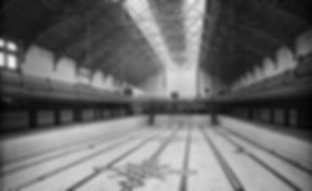 Swimming History London An interior view of the large empty swimming pool within the main bath hall at Battersea Public Baths.