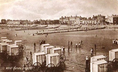 Bathing Machines on the Beach at Bognor