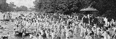 Swimming History naked boys swim in Victoria Park Lake London