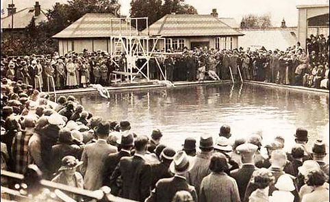 Hathersage swimming pool opened in 1936, as a part of the King George Fifth Memorial Field.