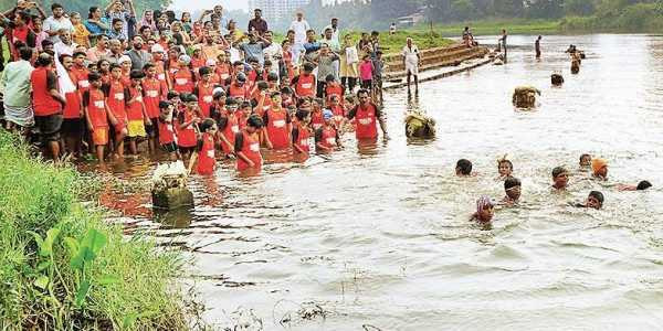 Taught to Swim in Open Water to Prevent Drowning India