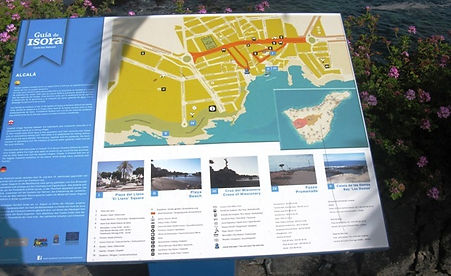 Map of swimming pools at Alcala Tenerife