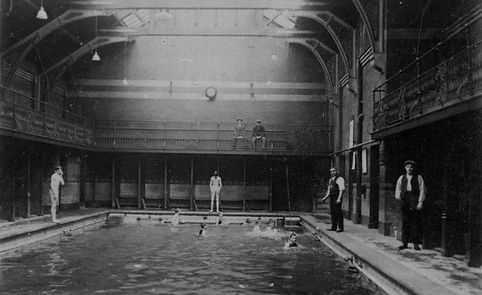 Bacup Public Baths - Small Pool Swimming History