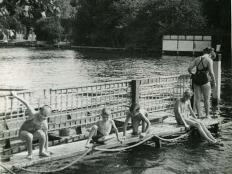 Swimming History Henley river swimming, bathing place