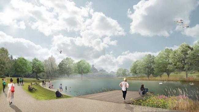 Beckenham Place Park's wild swimming lake