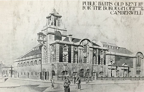 Swimming History London CAMBERWELL.  ​  Public Swimming Bath, Old kent Road.