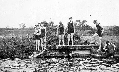 Fishlake Bathing Place Romsey Swimming History