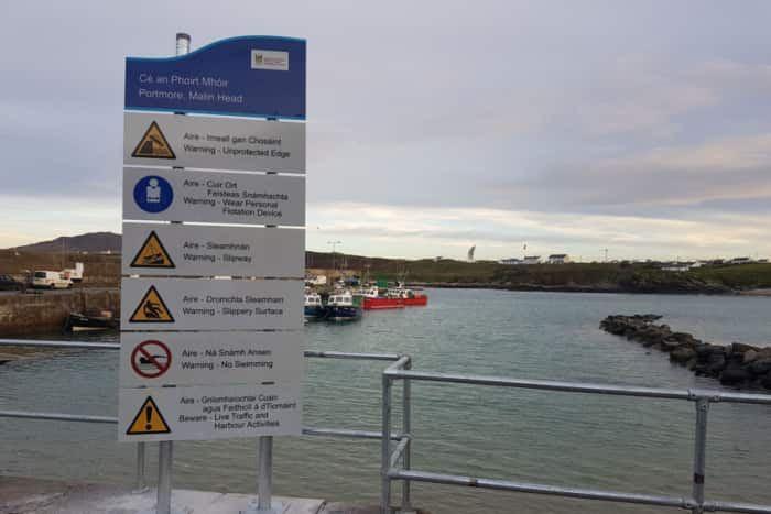 Ban on Swimming at Malin Head Pier