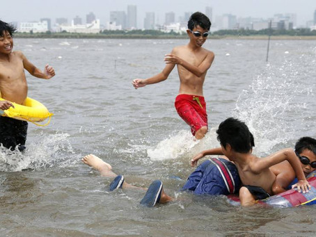 Tokyo: first swimming beach since 1960s opens in City