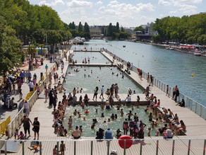 Paris canal swimming pools open for summer once again