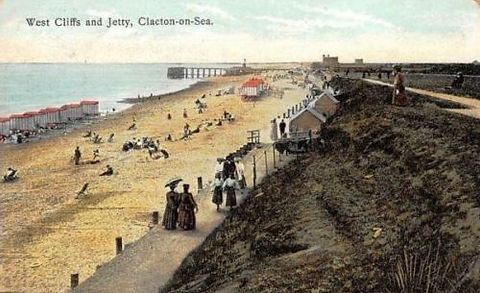 Clacton on Sea Bathing Machines West Cliff Swimmig History