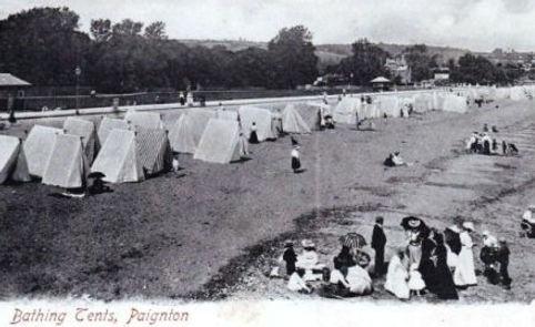 Bathing Tents Paignton Devon Swimming History