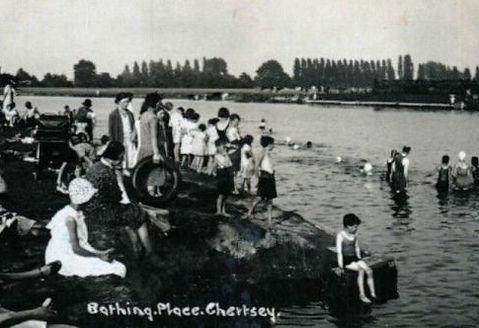 Bathing Place Chertsey Swimming History