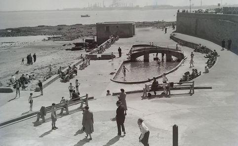 Block Sands and paddling pool Swimming History