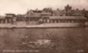 Bathing Pool - WEST KIRBY.   Shore Lake, Sea Front. Floating barges. Historic wild swimming venue.