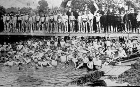 Boys Bathing at Newport Pagnell Bathing Place