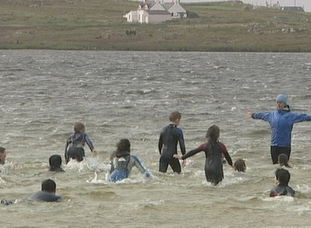 Swimming Lessons Turn Wild at Tiree