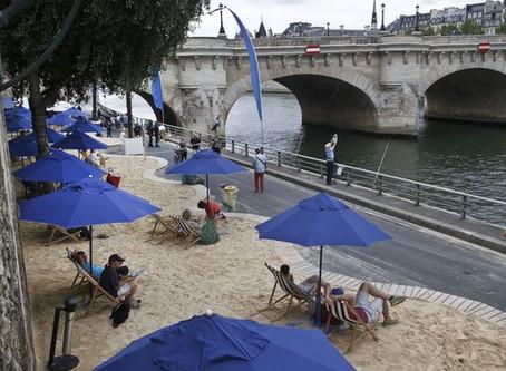 A beach on the White River?