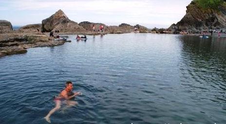 Wild Swimming at Ilfracombe natural sea water swimming pool