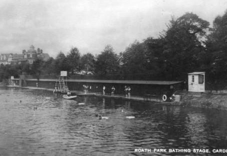 Roath Park Bathing Stage Cardiff