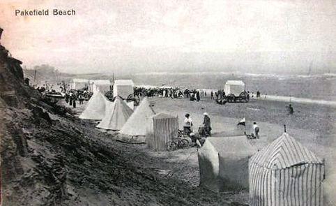 Seabathing Tents on Pakefield Beach